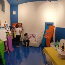 Sala Azzurra presso la Parrocchia di Sant'Elena, allestita appositamente con una rassegna dell'Associazione.