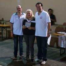 Il Presidente con Rossella e Wiliam, i vincitori del 1 Torneo di Burraco