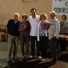 Premiazione delle due ultime coppie Viviana e Ugo, Rossana e Vittorio classificate a pari merito.