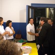 Cardinale alla Festa di Sant'Elena saluta il presidente
