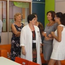 Giorno dell'inaugurazione della sala, arredata con i nuovi mobili donati dall'Associazione